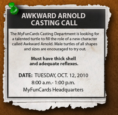 Awkward Arnold Audition