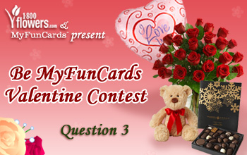 Be MyFunCards Valentine Contest Question 3