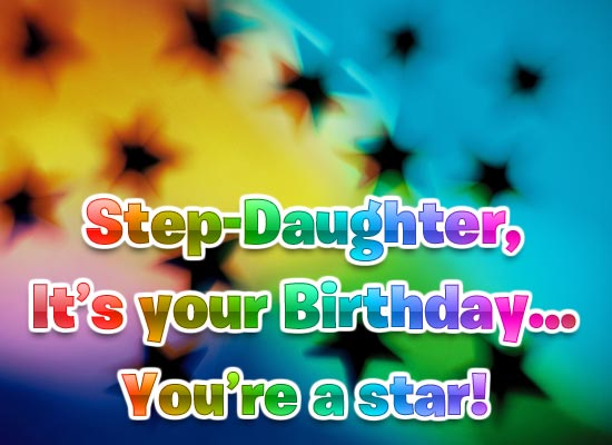 Birthday Star - Step-Daughter