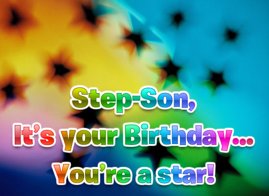 Birthday Star - Step-Son
