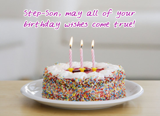 Birthday Wishes - Step-Son
