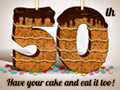 50th Birthday Layer Cake