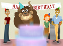 Birthday Cake Scare