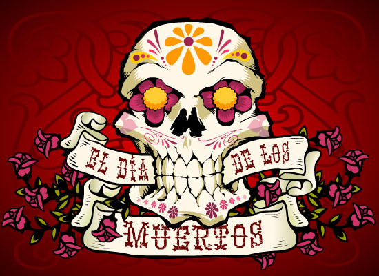 myfuncards  el dia de los muertos  send free holidays ecards, Greeting card
