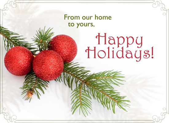 i wish you a merry christmas and happy holidays