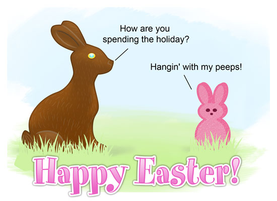 Funny Peeps Easter Cards