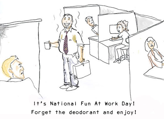 funny work pictures. Smelly Day At Work eCard