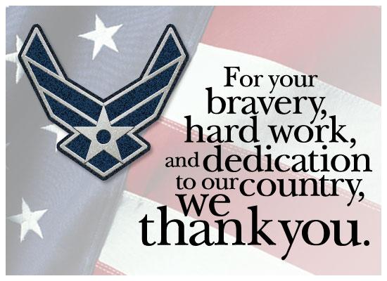 Thanks - Air Force - Send Free Holidays