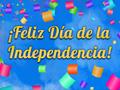 Dia De La Independencia: Confeti