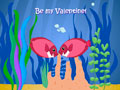 Kissing Fish Valentines