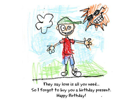 funny birthday greetings for friend. in cheek greeting on his
