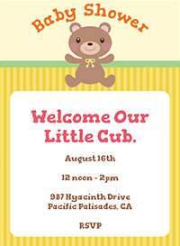Baby Teddy Bear Shower