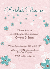 Flower Bridal Shower