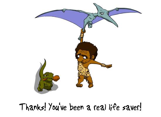 Dinosaur Thanks Happy Birthday Ecard