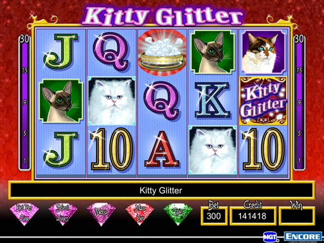 Play Kitty Glitter Slot Machine Online for Free Gratis Spins