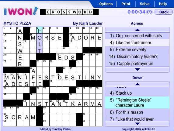 Daily Crossword Screenshot
