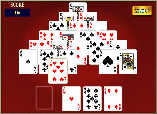 Pyramid Solitaire Screenshot
